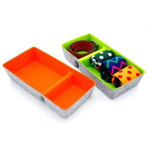 office desk drawer organizer bins felt storage bin for closet home cabinet stationery makeup socks