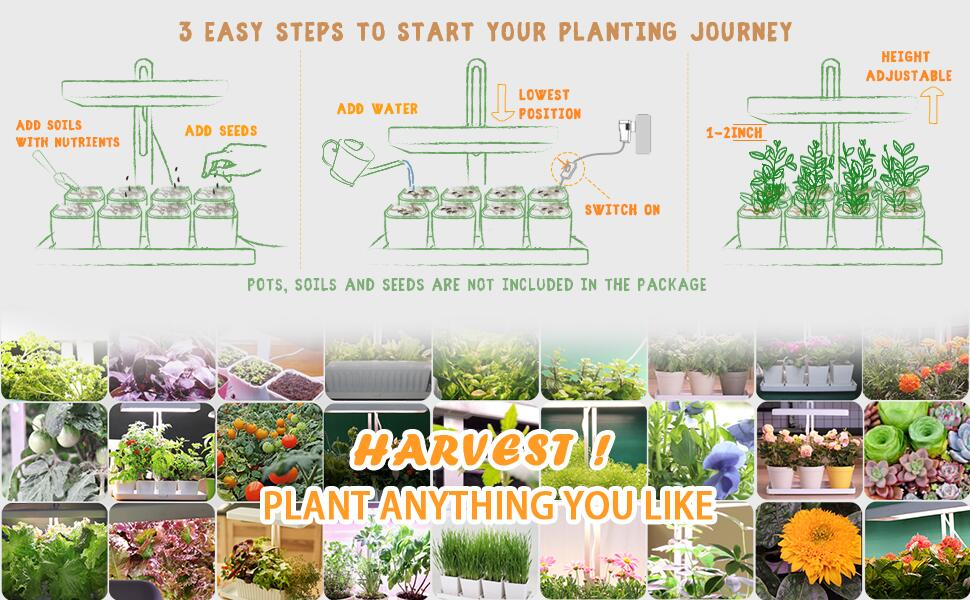 Easy to start planting journey and get harvest.