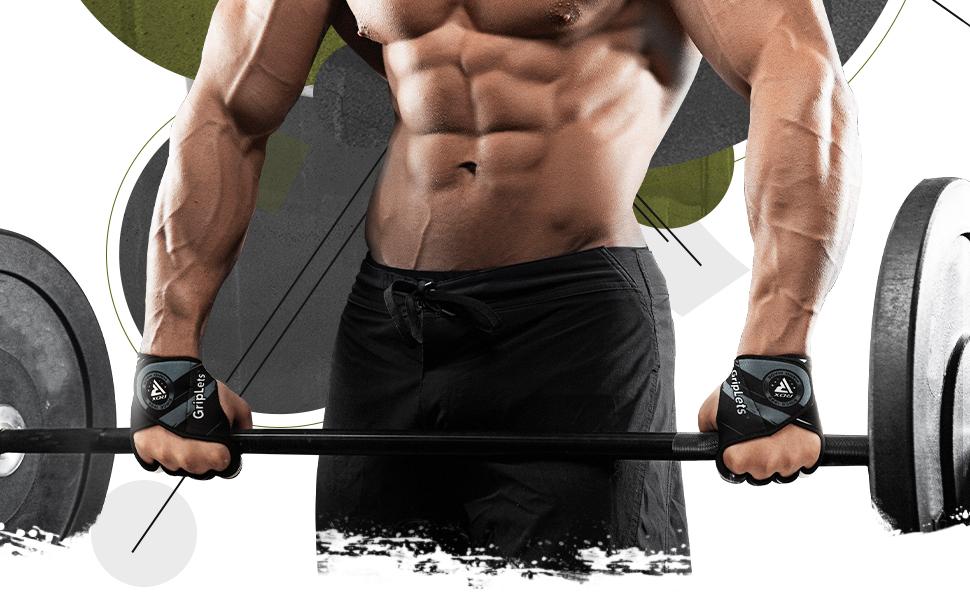 RDX Weight Lifting Gym Grips, Non Slip Gymnastics Gripper Gloves for Strength Cross Training