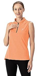 women sleeveless golf shirts
