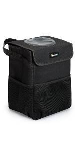 AstroAI 9.5L Car Trash Can with Lid and Storage Pockets