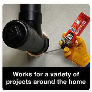 This foam insulation works both indoors and outdoors, expanding up to 1-inch in gaps.