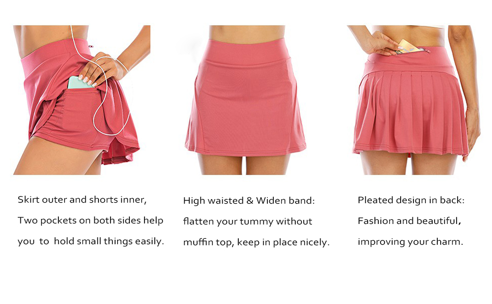 Details of Pleated Athletic Skirts