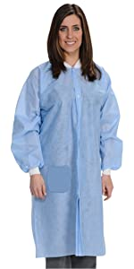 Disposable Lab Coat Blue