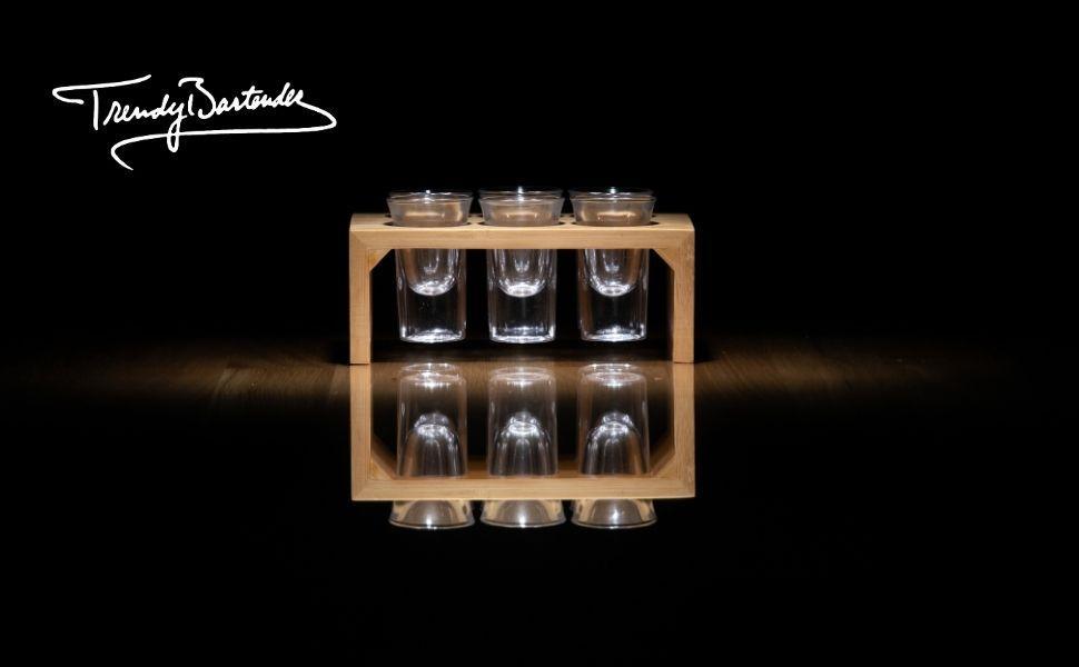 Trendy Bartender vintage shot glass set
