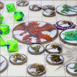 Monster Tokens on Battle Mat