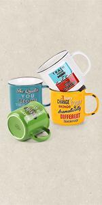 Retro-Style Coffee Mugs
