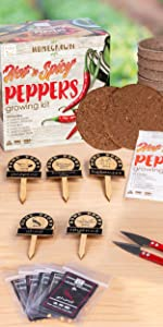 Hot and Spicy Pepper Growing Starter Kit