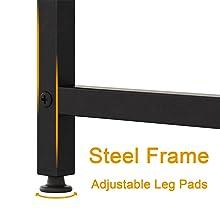 office desk steel frame adjustable leg pads