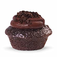 triple fudge chocolate mini cupcake from baked by melissa