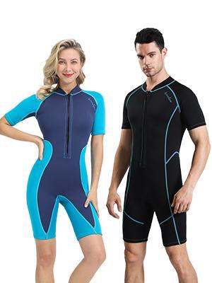 omgear swim shirt short diving suit