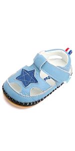 blue star baby boys sandals