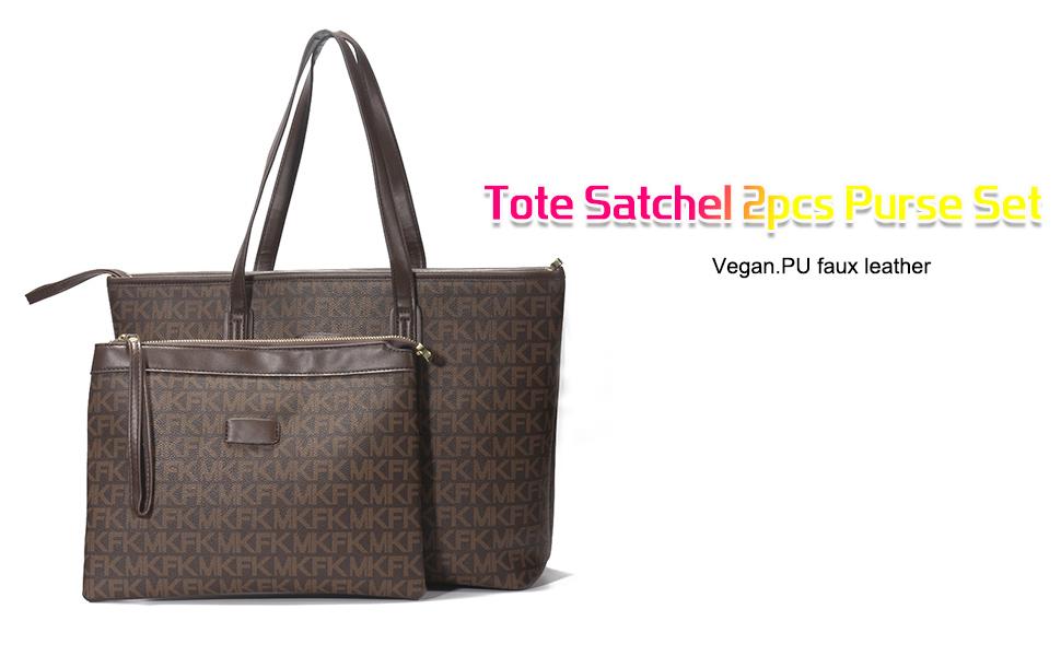 YHOK Handbags for Women Shoulder Bags Tote Satchel 2pcs Purse Set