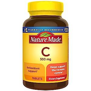 Nature Made Vitamin C 500mg Tablets