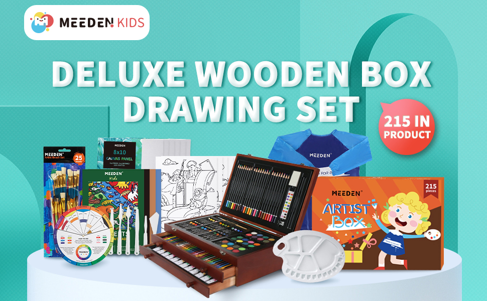 wooden box drawing set