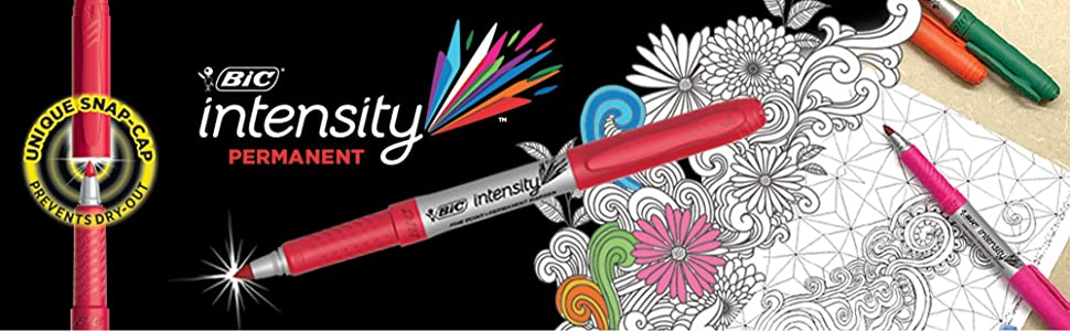 BIC Intensity Permanent Marker for Adult Colouring and Journal With Low Odour