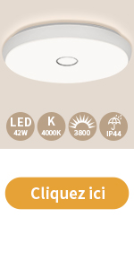 Öuesen Plafonnier LED 42w 4000k 3800lm 49cm
