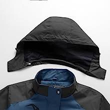Detachable hood with velcro