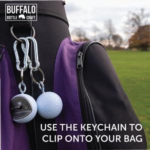 golf ball bottle opener keychain carabiner