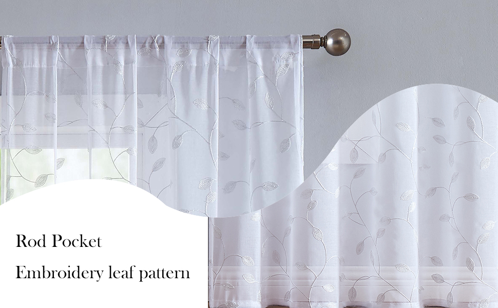 WHITE EMBROIDERY CURTAINS