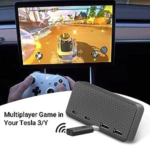 Tesla Model 3 USB Hub 4-in-1 Center Console Adapter, Model 3 Model Y Accessories