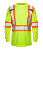 yellow safety shirt long sleeve