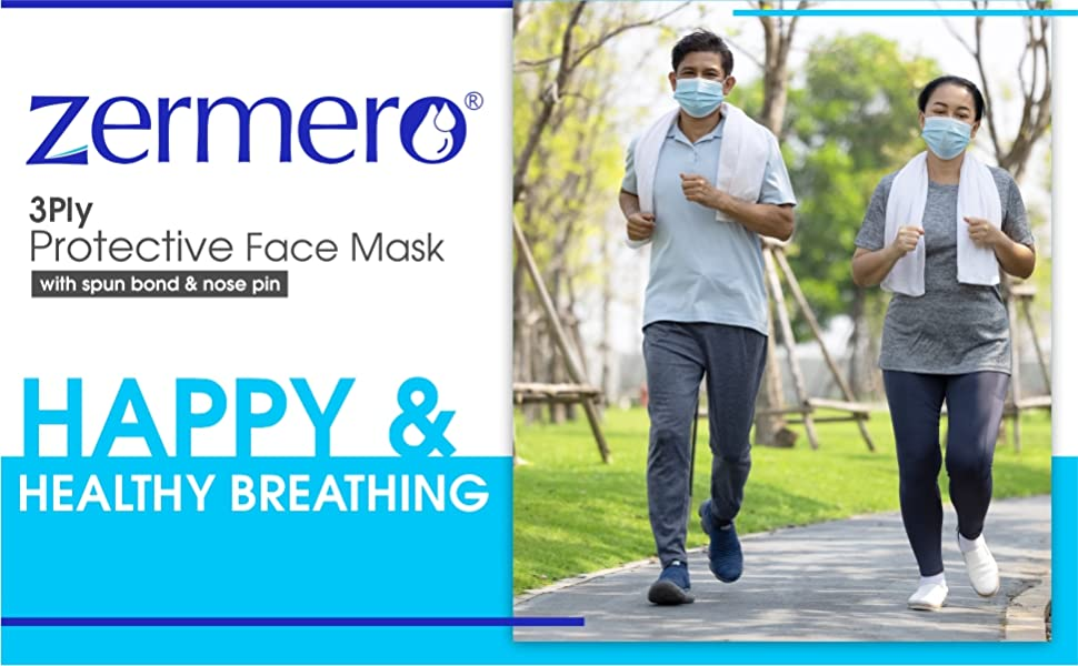 Zermero 3ply protective face mask