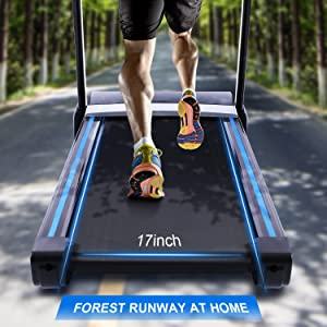 Folding Treadmill with Automatic Incline
