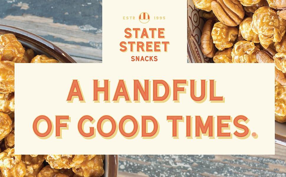 State Street Snacks Gourmet Popcorn - The Original Variety Caramel Popped Popcorn