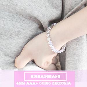 Zirconia Classic Tennis Bracelet Silver Bracelets for Women