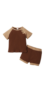Toddler Baby Boy Ribbed Outfits