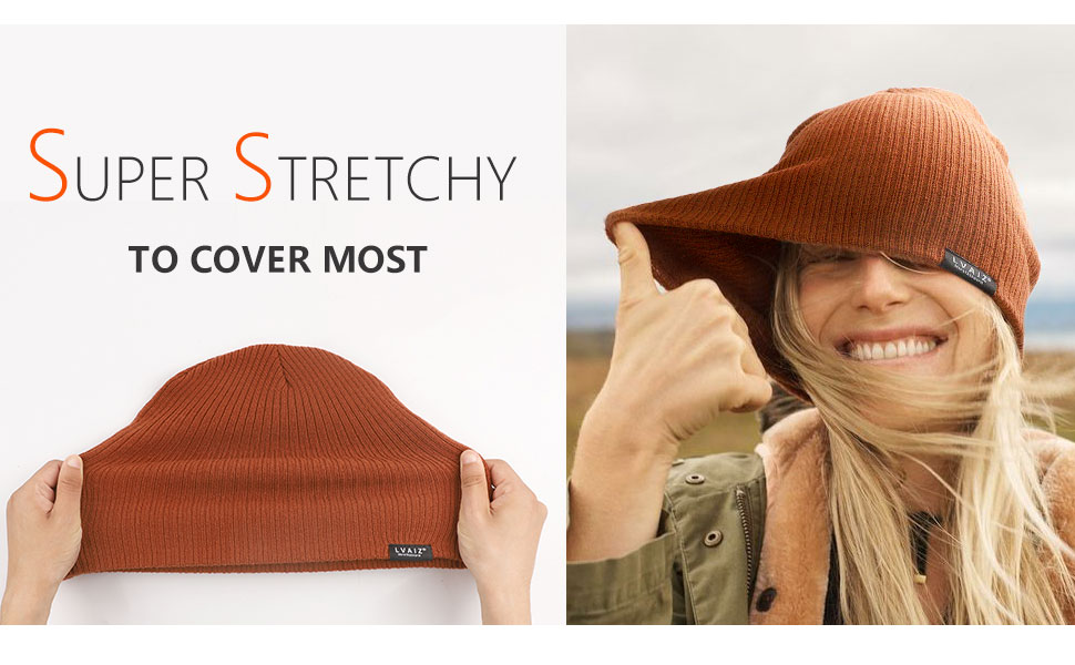 stretchy knitted beanie