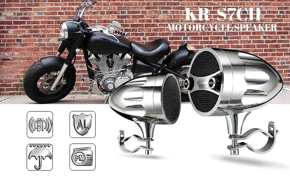 Motorcycle speakers bluetooth waterproof radio