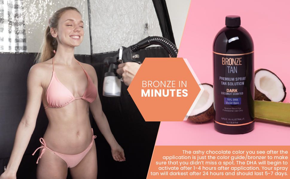 Bronze Tan Special Dark Blend Premium Spray Tan Solution For Spray Tanning Professionals
