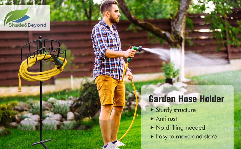 Shadeamp;Beyond Garden Water Hose Holder for Pations
