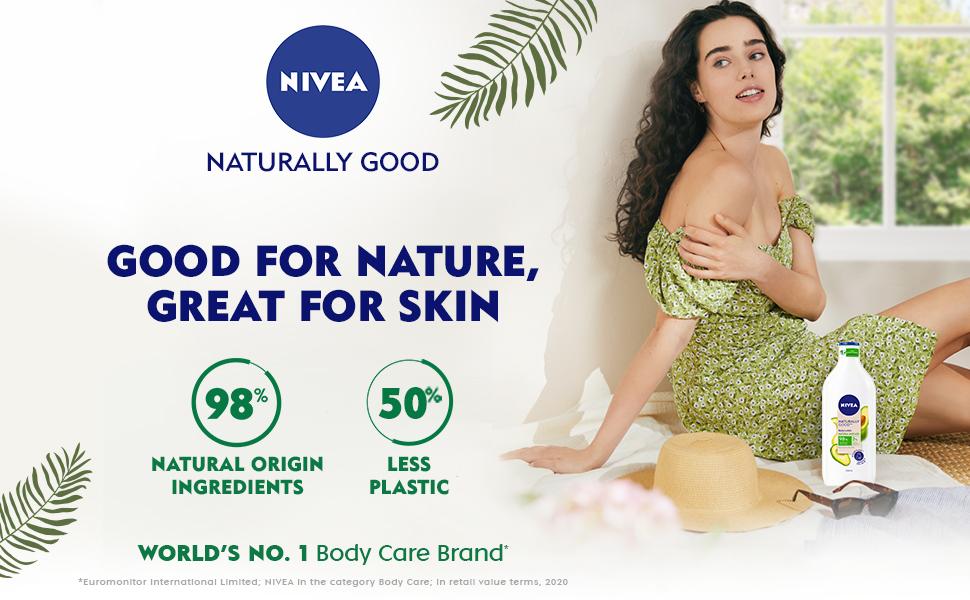 NIVEA,Women,Body lotion,Natural Ingredients,Avocado