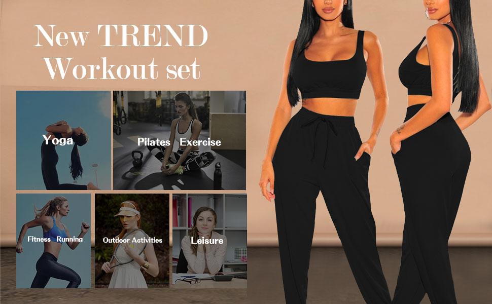 sport bra and sweatpants set