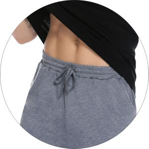 Short pjs pants with soft elastic waist