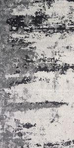distressed black and cream rug