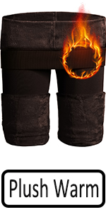 Brown warm leggings women