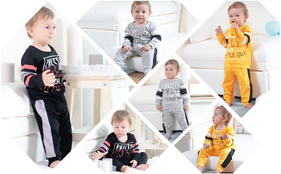 Toddler Baby Boy Fall Winter Clothes 2-Piece