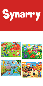 4 Pack Wooden Puzzles for Kids Ages 3-5