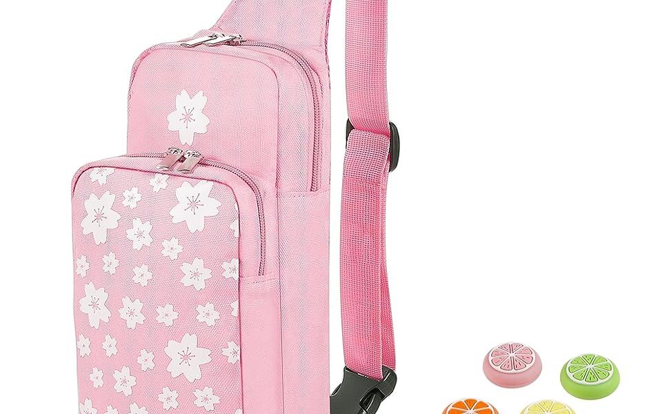 Pink Travling Shoulder Bag for Nintendo Switch/Lite Bag
