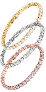 3 color size tennis bracelet