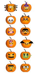 Pumpkin Stickers Decorating