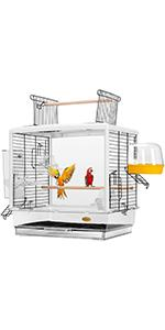 Acrylic Bird Travel Carrier Cage