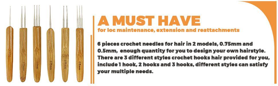 Crochet Needles for Hair