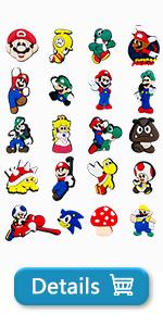 Mario Shoe Charms