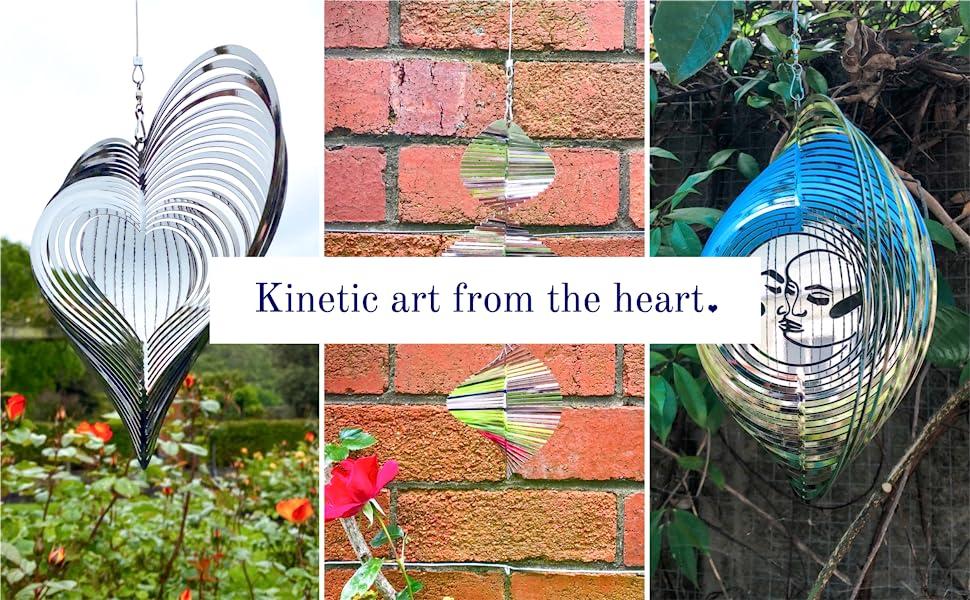 Metal wind spinner outdoor yard art yard spinner patio garden decor Beauty and the Wind Garden Art