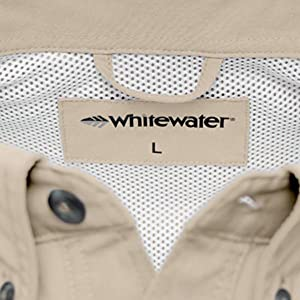 Whitewater Rapids Short Sleeve Fishing Shirt Mesh Detail